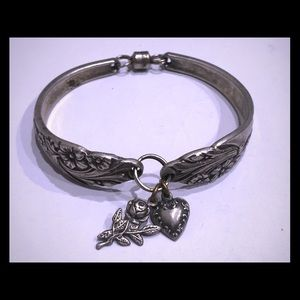 Jewelry - Unique handmade silver spoon bracelet with charms